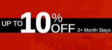 Up to 10% OFF. 3+ Month Stays