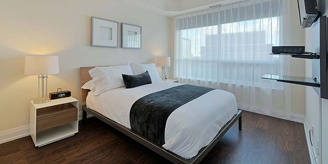 North York Short Term Rentals Hullmark Master Bedroom