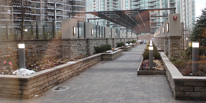 North York Condo Rentals Hullmark Outdoor Terrace