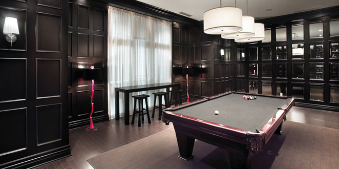 North York Furnished Rentals Meridian Billiards Room