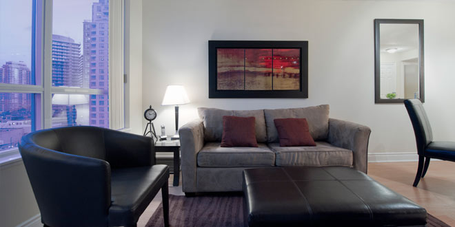 North York Apartments for Rent Meridian Living Room