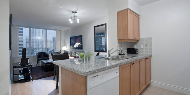 North York Furnished Suites Meridian Kitchen