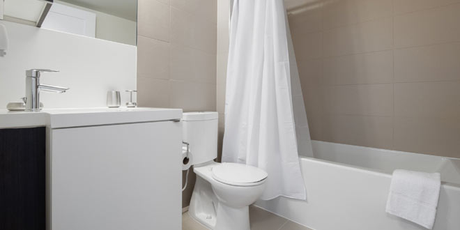 Downtown Toronto Short Term Rental 300 Front Bathroom
