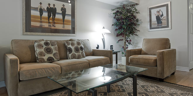 Downtown Toronto Furnished Accommodations Icon Living Room