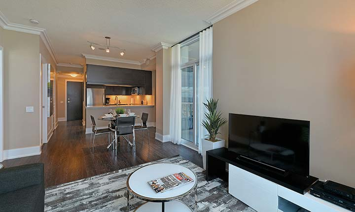 Etobicoke Condo Rentals Parc Nuvo Living and Dining Room