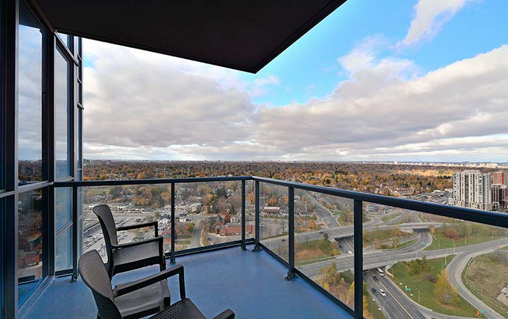 Etobicoke Corporate Housing Parc Nuvo Balcony Views