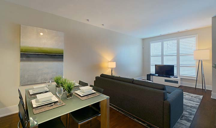 Etobicoke executive rentals parc nuvo townhouse dining area