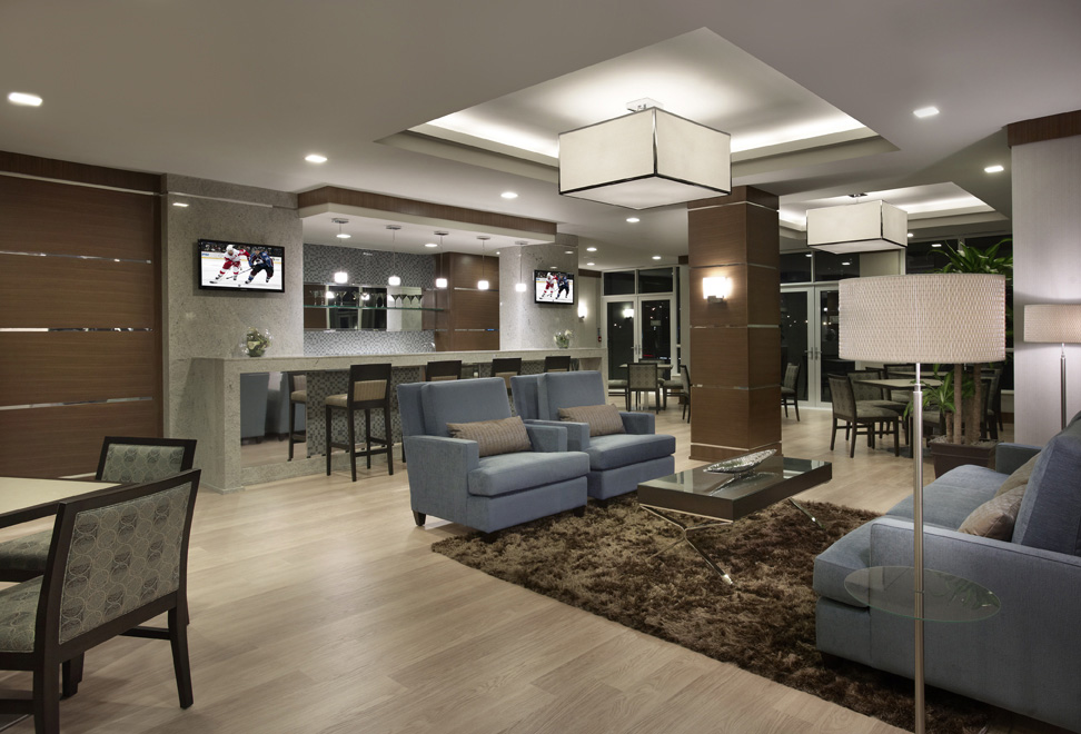 Etobicoke Corporate Housing Parc Nuvo party room