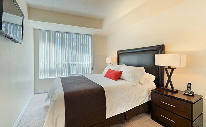 Downtown Toronto Executive Rentals Qwest Bedroom