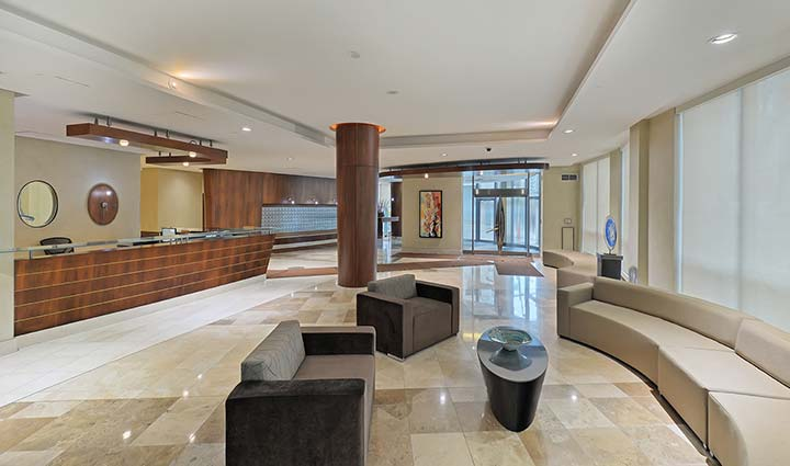 Downtown Toronto Condo Rentals Qwest Front Lobby