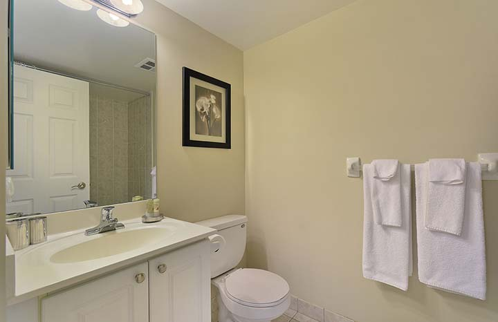 Scarborough Short Term Apartment Rentals Forest Vista Bathroom