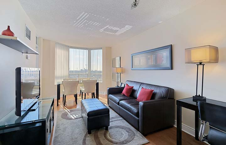 North York Short Term Apartment Rentals Avondale Dining Room