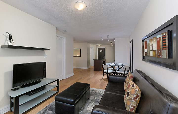 Downtown Toronto Executive Suites Element Living Room