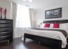 North York Short Term Apartment Rentals Meridian Townhome Master Bedroom